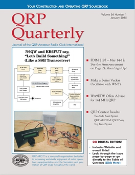 QRP Quarterly - January 2015