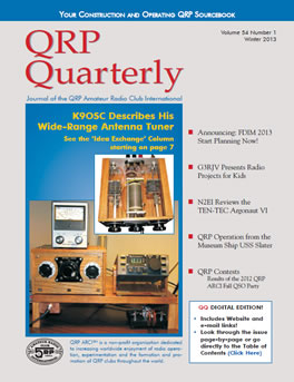 QRP Quarterly - Winter 2013
